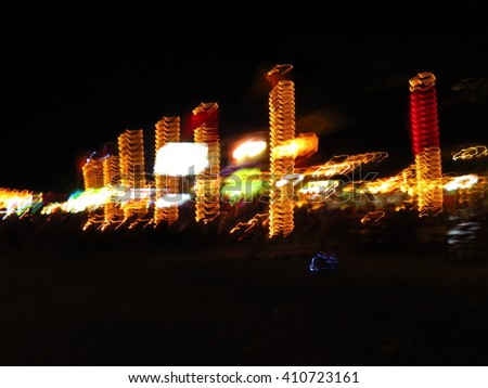 abstract light at night - stock photo