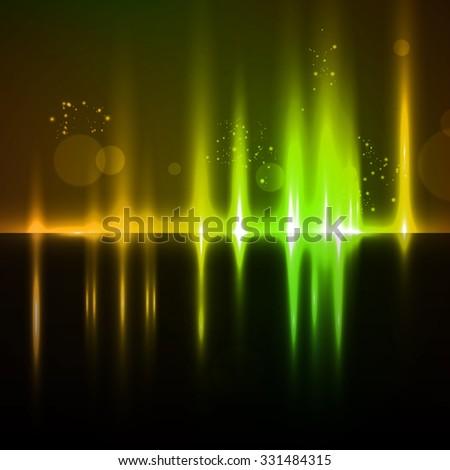 Abstract light background, futuristic illustration - stock photo
