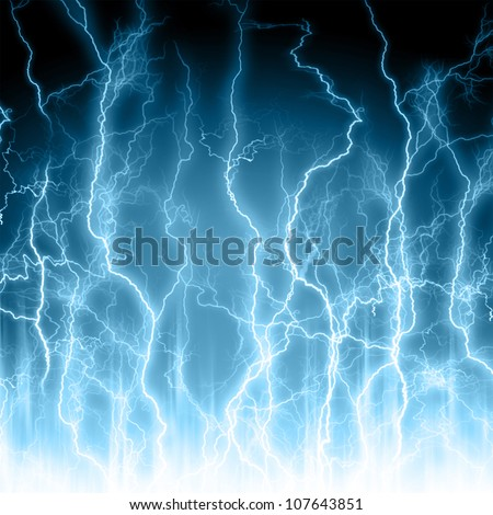 Abstract light blue background. Lightning - stock photo
