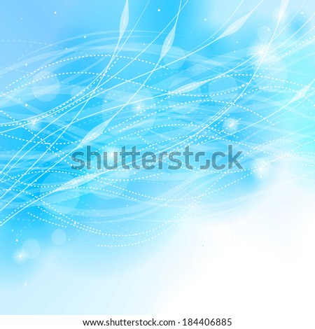 Abstract light blue background with lines.