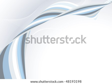 Abstract light blue template. Rasterized vector