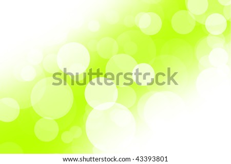 Abstract light blurs in green - stock photo
