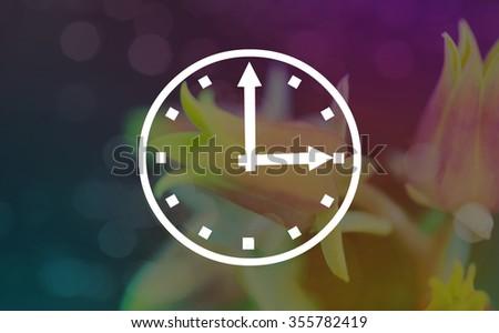 Abstract light bokeh clocks three oclock - stock photo