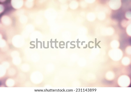 Abstract light celebration background with defocused golden lights for Christmas, New Year, Holiday, party  - stock photo