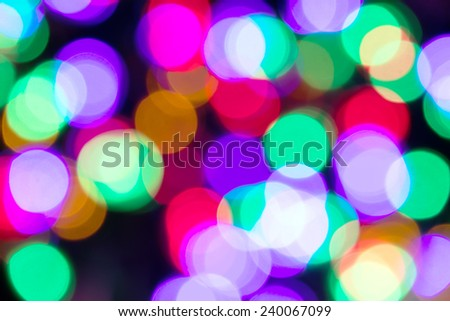 Abstract light celebration background with defocused lights for Christmas, New Year, Holiday, party - stock photo
