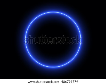 Abstract Light Effect Element Design on Black Background