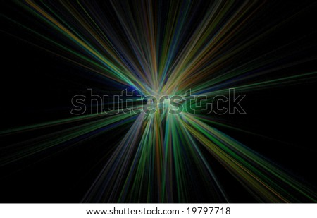 Abstract light explosion