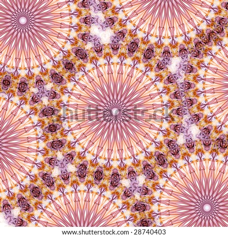 Abstract Light Forms Pattern - stock photo