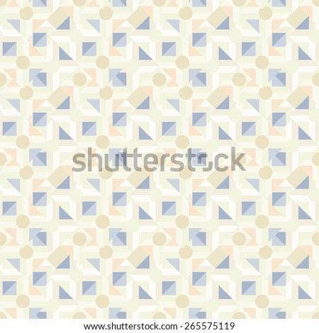 Abstract light geometric seamless pattern. Modern monochrome repeating texture  - stock photo