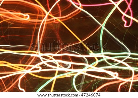Abstract light image - colored leds in motion - stock photo