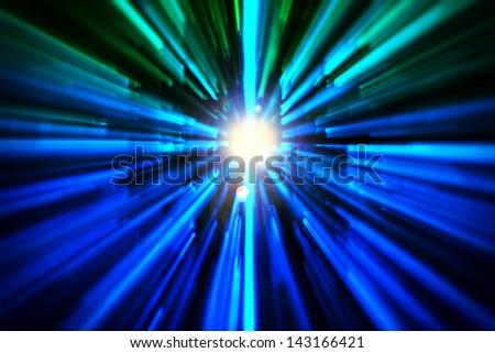 Abstract light rays - stock photo