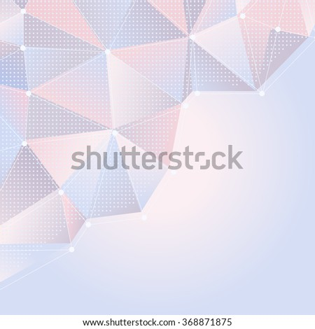abstract light rose and blue background with polygonal design. raster version - stock photo