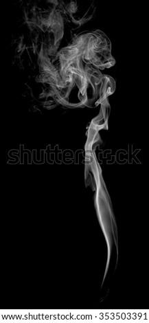 Abstract light smoke on a dark background - stock photo