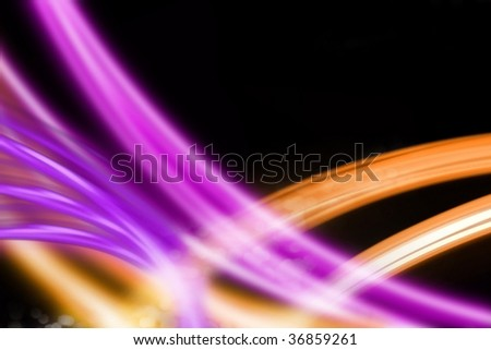 abstract light srtipes on black background - stock photo