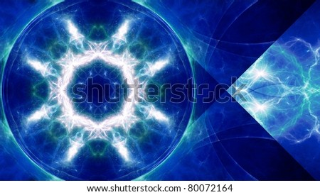 abstract lightning background - stock photo