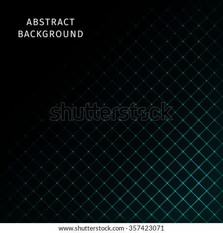 Abstract lights aqua strips on dark background - stock photo
