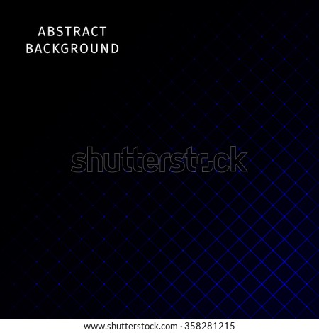 Abstract lights blue strips on dark background - stock photo