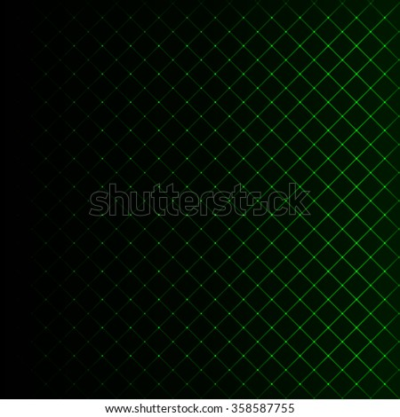 Abstract lights green strips on dark background - stock photo