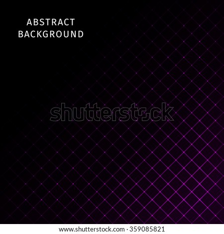 Abstract lights magenta strips on dark background - stock photo