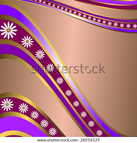 Abstract lilas  floral  frame. Raster. A vector variant look in my portfolio - stock photo