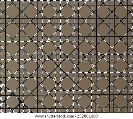 Abstract line on glass wall - stock photo