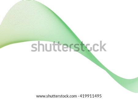Abstract line wave on white background for postcard