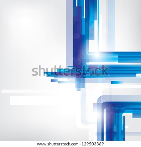 Abstract lines background with colored elements - stock photo