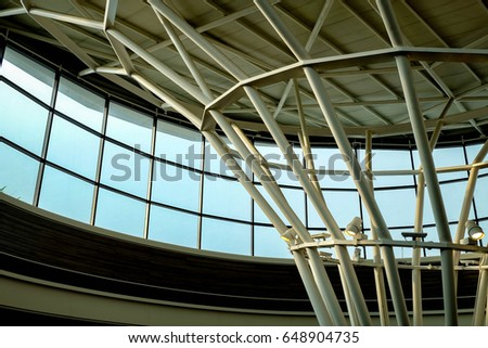 Modern Architecture Detail abstract lines on architecture modern architecture stock photo