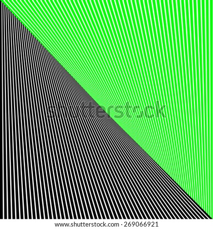 abstract lines twisted illusion - stock photo