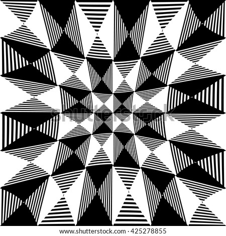 Abstract liny, checkered pattern with distortion effect