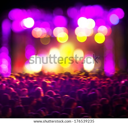 Abstract live music background. Public and concert  - stock photo