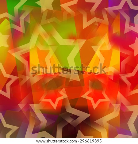 Abstract living colors background with stars - stock photo