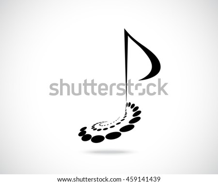 Abstract Vector Logo Design Template Music Stock Vector 219307654