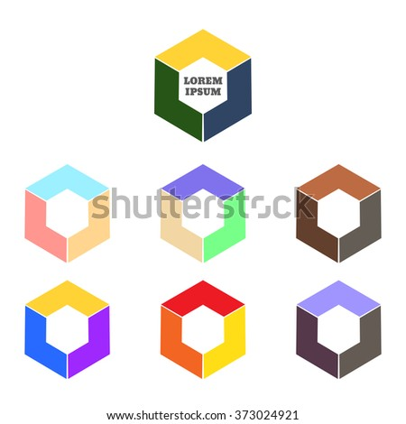 Abstract Logo Template Corner Geometric Shape Stock Illustration ...