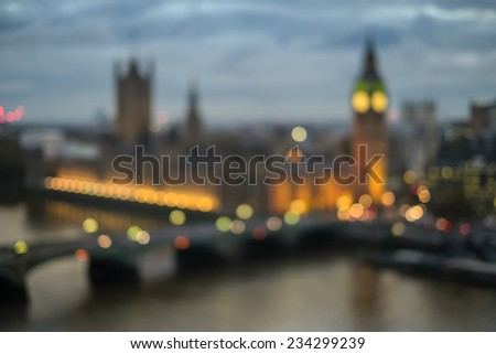 Abstract London in boken - stock photo