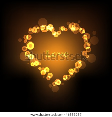 Abstract love lights background - stock photo