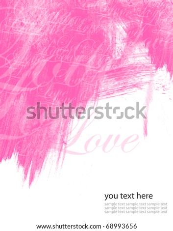 Abstract  Love watercolor - stock photo