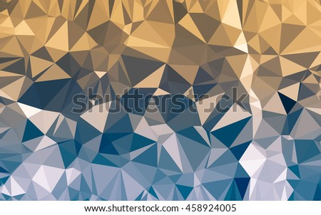 Abstract low poly background, geometry triangle, mosaic pastel color background - stock photo