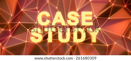 Abstract low-poly background. Word concept. Text case study. 3d render. - stock photo