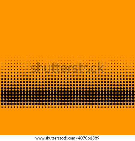 Abstract lower third halftone gradient pattern on orange background - stock photo