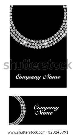 Abstract Luxury Black Diamond Business Card Illustration  - stock photo