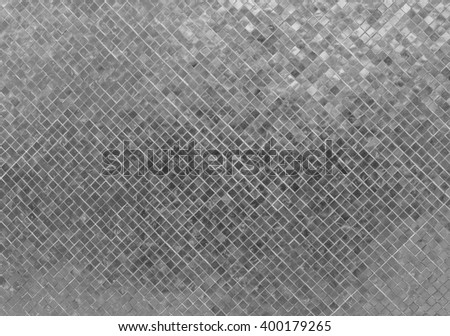 Abstract Luxury Shiny Gray Metal Tone Wall Flooring Tile Glass Seamless Pattern Mosaic Background Texture for Furniture Material Art Square Seamless Pattern with Shade for Modern Interior Design Style - stock photo