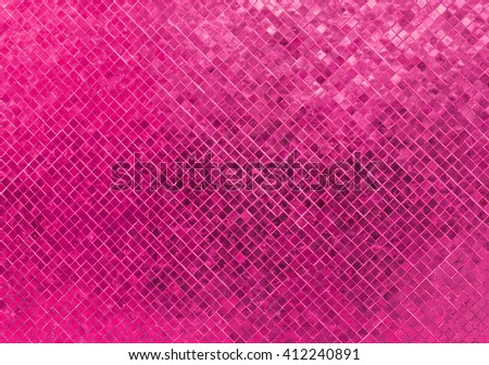 Abstract Luxury Sweet Pastel Pink Tone Wall Floor Tile Glass Seamless Pattern Mosaic Background Texture for Furniture Material. Art Square Seamless Pattern with Shade for Modern Interior Design Style - stock photo