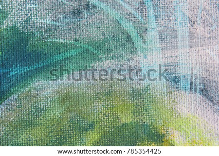 Abstract Macro Blue Green and Yellow Watercolor Background