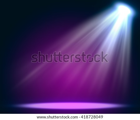 Abstract magic light background. Empty copy space for exhibition