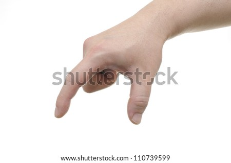 Abstract male hand reaching for something