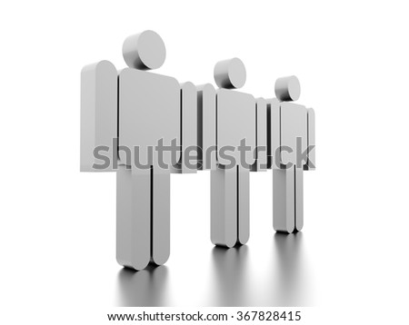 Abstract man figure rendered on white background isolated
