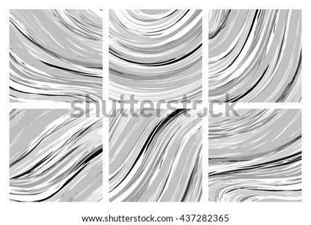 Abstract marble texture. Black and white background. Handmade technique.