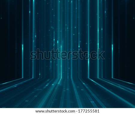 Abstract matrix like background - stock photo