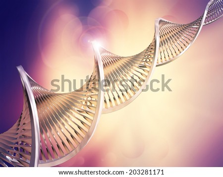 Abstract medical background with DNA strands - stock photo